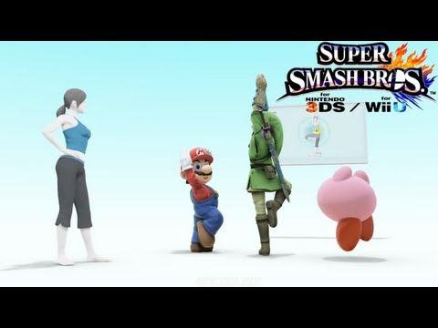 Super Smash Bros for Wii U & 3DS Trailer - Wii Fit Trainer Joins the Battle