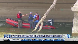 Everyone safe after water rescue along Grand River