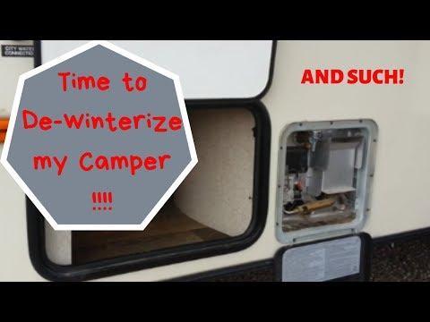 de-winterizing-a-camper.-antifreeze-removal.-2017-rockwood-mini-lite-2109s