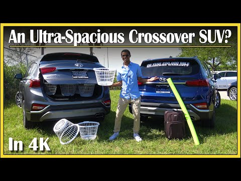 2019 Hyundai Santa Fe   Cargo Space (DETAILED) Review in 4K!   How Much Stuff Can Fit In That Trunk?