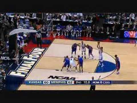 Mario chalmers 3-point shot at the 2008 NCAA Championship