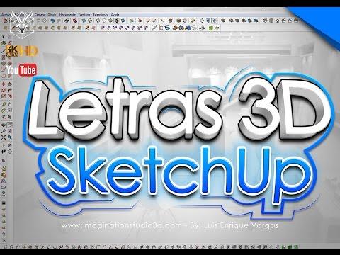 Tutorial   Crear letras 3D con Sketchup