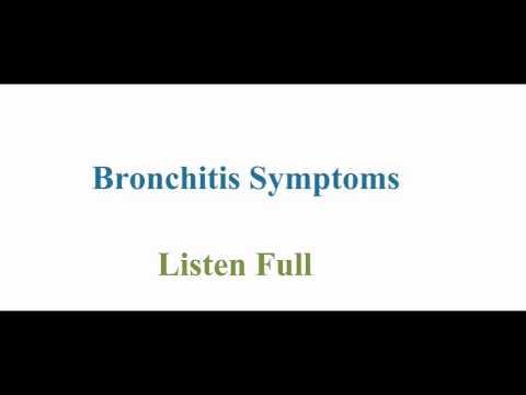 Acute Bronchitis Symptoms