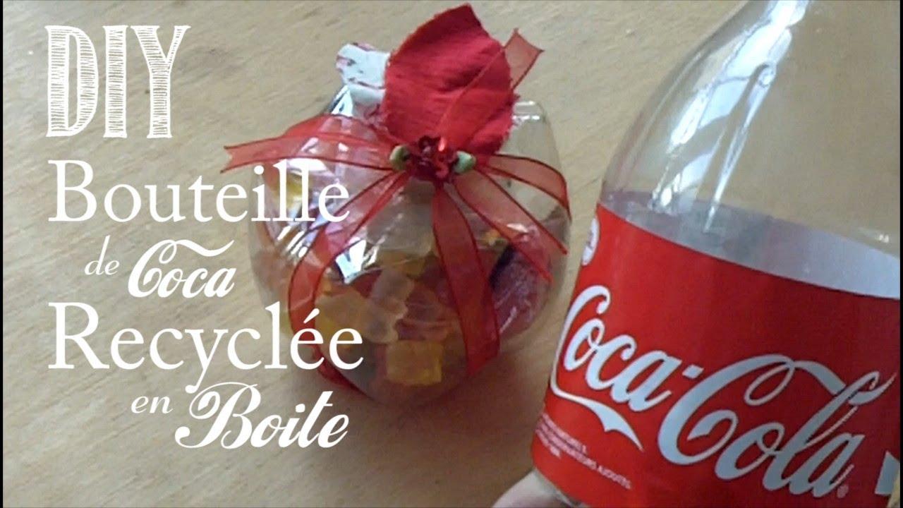 Idee Deco Noel Avec Bouteille Plastique diy : comment recyclee une bouteille de coca en boite - youtube