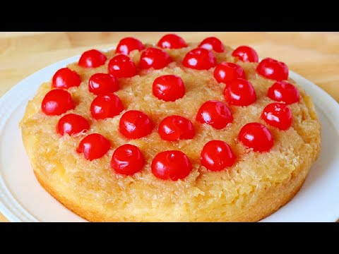 Easy Pineapple Upside Down Cake with Crushed Pineapple