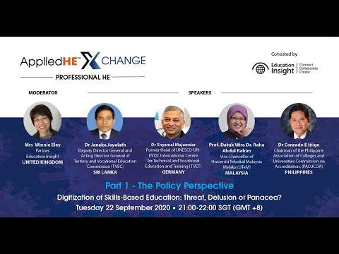 AppliedHE Xchange Professional HE Part 1, The Policy Perspective