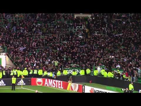 Celtic 1 - Zenit Saint Petersburg 0 - Green Brigade - Post Match Celebrations - 15.02.18