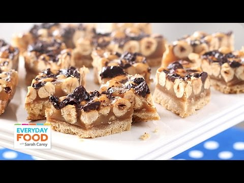 Hazelnut Caramel Chocolate Bars - Everyday Food with Sarah Carey ...