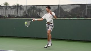 Novak Djokovic Forehand In Super Slow Motion 3 - Indian Wells 2013 - BNP Paribas Open