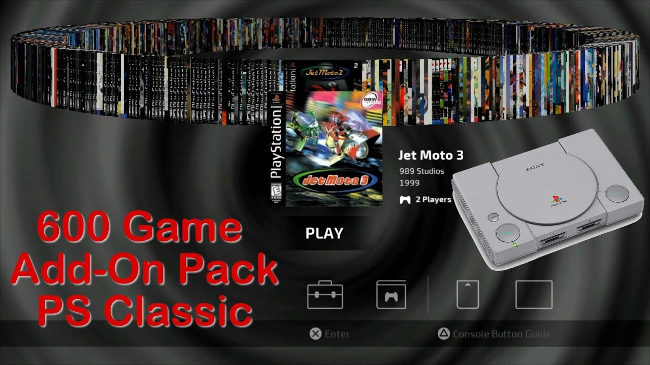 PlayStation Classic 600 Game Add-On Pack - Easy Install