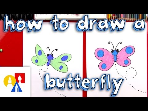 How To Draw A Cartoon Butterfly + SYA!