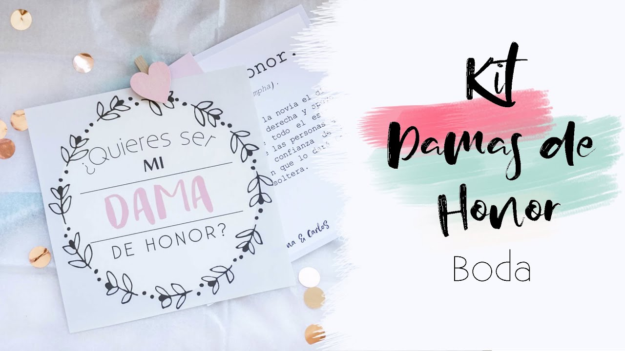 Regalo Para Damas De Honor Kit Diy Boda Galacticastudiodiy Youtube