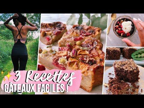 mes-3-gâteaux-sains,-faciles-&-rapides-préférés-!-🍰🍓 -(option-végane-et-sans-four!!!)