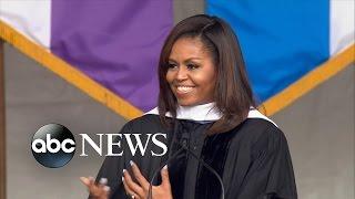 Michelle Obama Rebukes Trump's Border Wall in Speech to Graduates