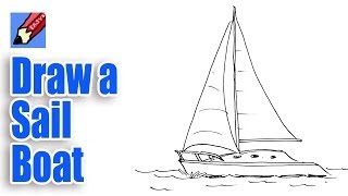 How to draw a sailboat real easy