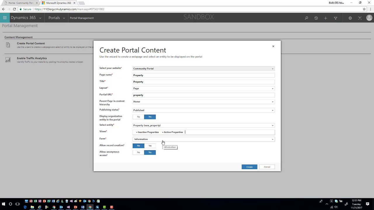 Portal Content Wizard - YouTube