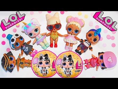 LOL Series 3 Wave 2 NEW DOLLS in MY COLLECTION Confetti pop POPSY TOYS