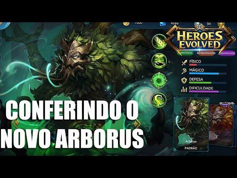 CONFERINDO O REWORK NO ARBORUS (Ficou Feio?) - Heroes Evolved
