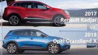 2017 Renault Kadjar vs 2018 Opel Grandland X (technical comparison)
