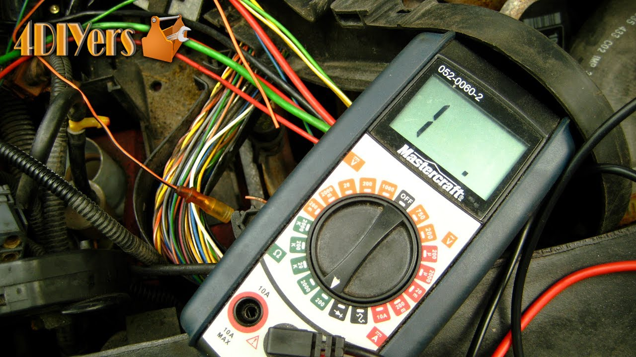 diy testing for continuity with a multimeter youtube rh youtube com multimeter test car wiring Car Wiring Harness