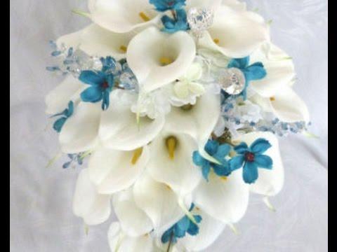 Cascading Calla Lily Wedding Bouquet - YouTube