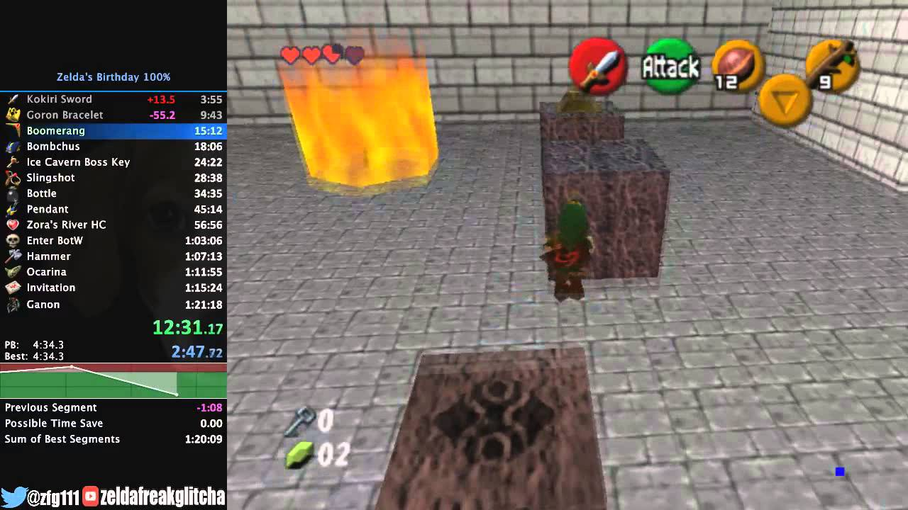 Zelda's Birthday (Ocarina of Time Mod/Romhack) 100% Speedrun in 1:14:28