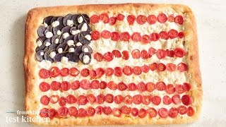 How To Make An American Flag Pizza Pie - From The Test Kitchen