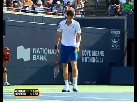 Andy Murray vs Roger Federer ATP Masters Toronto 2010 - last game & stats