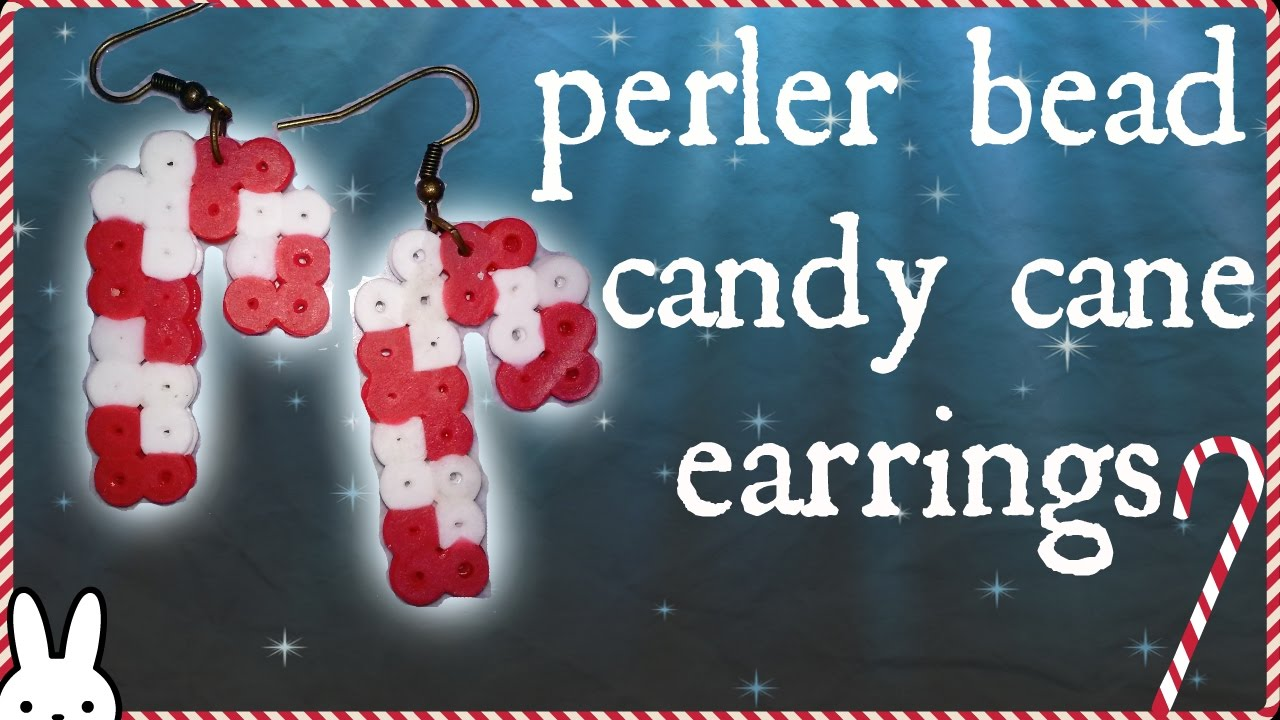 Diy: How To Make Quick Candy Cane Earrings Using Perler, Hama, Fuse Beads