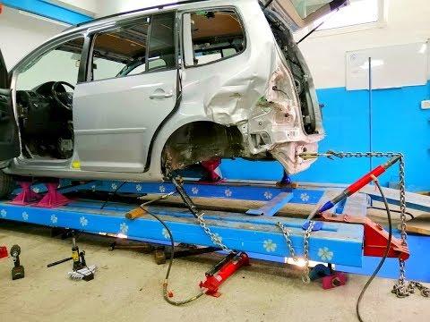 Volkswagen Touran.  Вытяжка ну ооочень крепкого кузова.