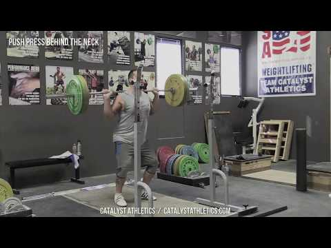 Push Press Behind the Neck - Olympic Weightlifting Exercise Library - Catalyst Athletics