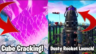 *LEAKED* Fortnite Dusty Depot Rocket Launch! The Cube is CRACKING!