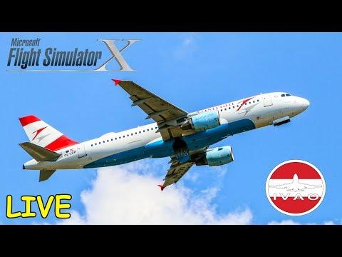 FSX | IVAO | Frankfurt - Wien | AUA18A | Airbus A320 Austrian Airlines [Streamaufzeichnung]