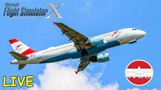FSX   IVAO   Frankfurt - Wien   AUA18A   Airbus A320 Austrian Airlines [Streamaufzeichnung]