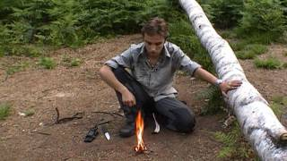 How to start a Fire by using Birchbark and Firesteel