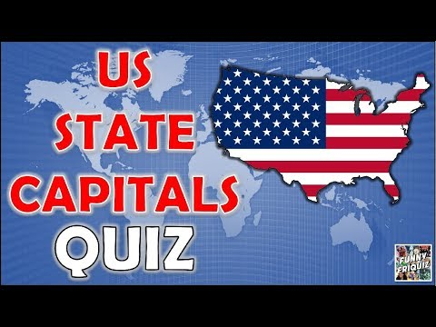 How Many U.S. State Capitals Do You Know? Test/Trivia/Quiz