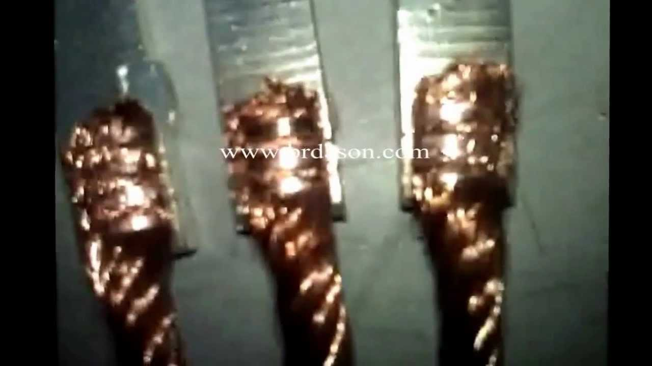 copper wire with coated copper sheet ultrasonic welding - YouTube