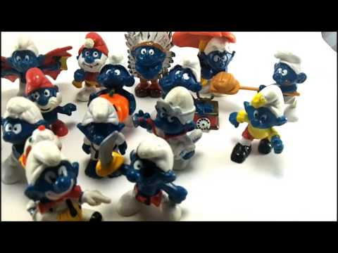 Vintage Peyo Smurf Figurines from the 1970s & 1980s