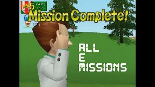 Swingerz Golf (Gamecube) - All E Missions Completed in 52 minutes!