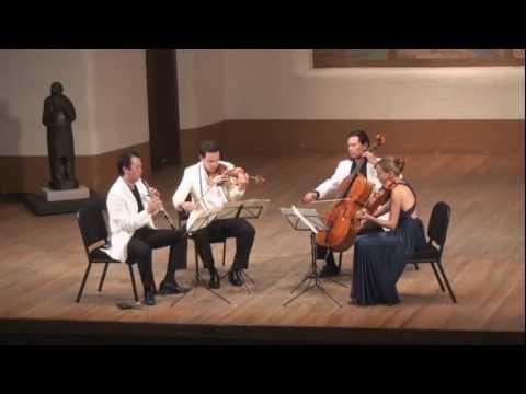 Mozart Oboe Quartet in F Major, K. 370 - 2nd mvt. | L. Wang, G. Schmidt, L. Francis. F. Fan