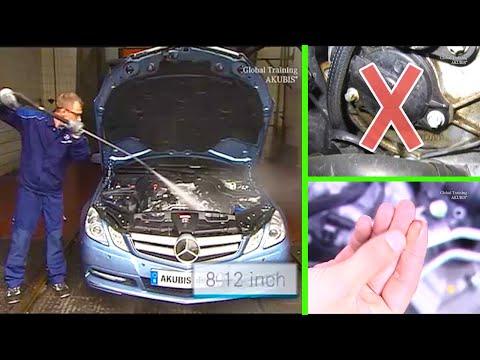 Mercedes Benz E-Class | Localize oil leaks on major assemblies