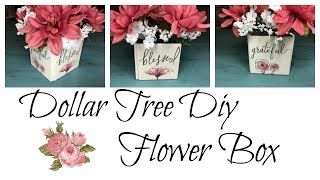 DOLLAR TREE DIY FLOWER BOX NEW