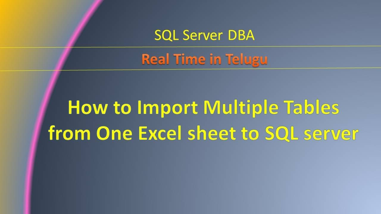 How to import multiple tables from one excel sheet to sql server how to import multiple tables from one excel sheet to sql server gamestrikefo Gallery