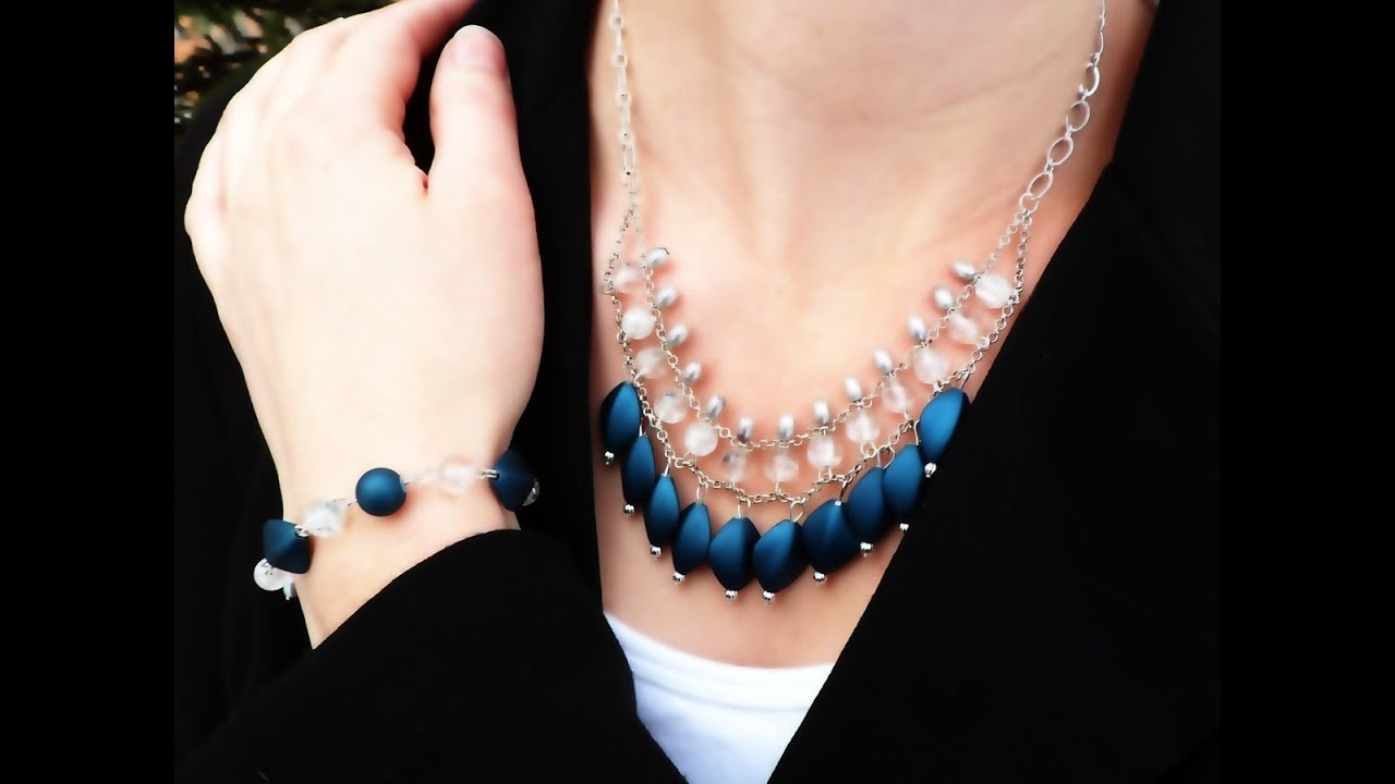 DIY Beaded Layer Chain Necklace and Bracelet Set - AKA The ...