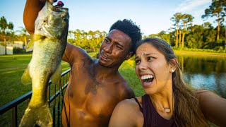 OUR FIRST TIME GOING FISHING! (absolute disaster)
