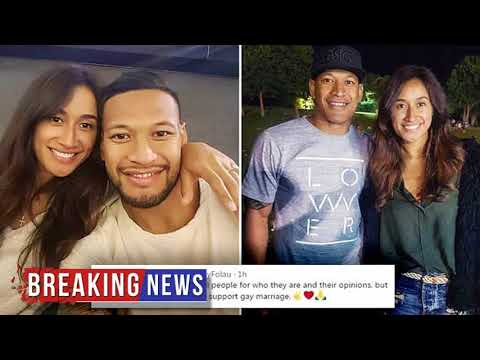 HOT NEWS Israel Folau married on same day as gay marriage result | Daily Mail Online