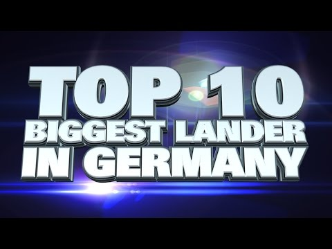 10 biggest states in Germany