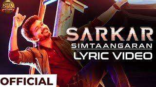 SARKAR – Simtaangaran Official Lyric Video Reaction | Thalapathy Vijay