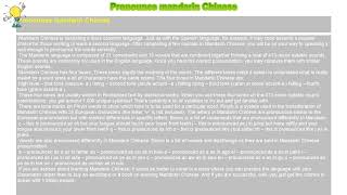 How to : Pronounce mandarin Chinese