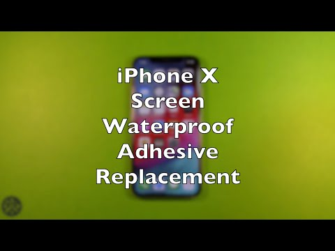 iPhone X Waterproof Screen Adhesive Replacement How To Change